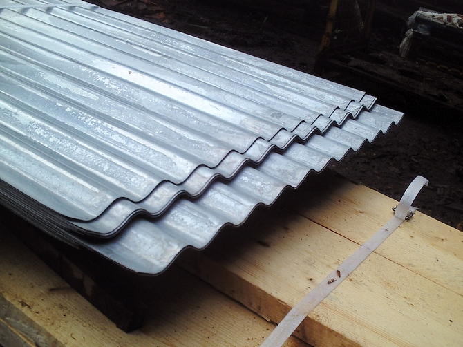 Galvanized Roofing Sheet Cladding : Heavy duty corrugated galvanised roofing sheets