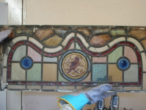 Hand Painted Stained Glass AR044
