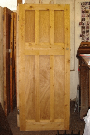 Reclaimed and stripped 6 panel door