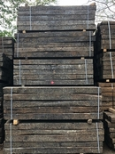 "Reclaimed Hardwood Creosote Treated Railway Sleepers, 86"" x 10"" x 6"" (2.6m x 250mm x 150mm)"