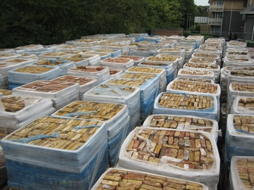 bricks pallets
