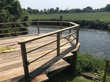 Used Scaffold Board Decking Project