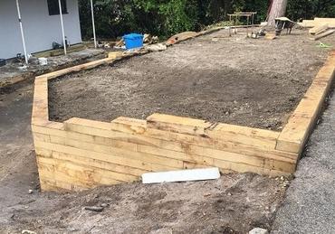 New Untreated Oak Sleeper Project