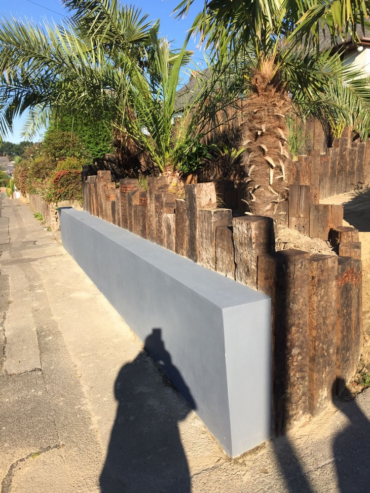 Rustic Railway Sleeper Wall