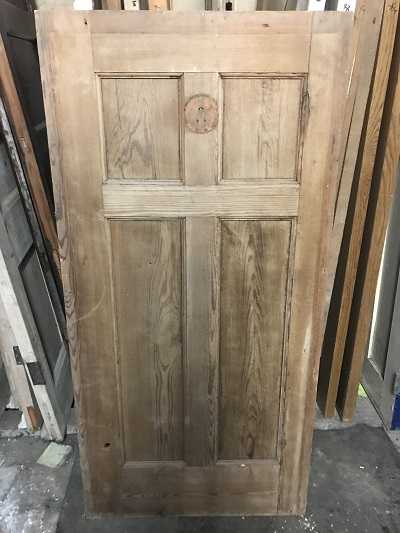 Reclaimed Stripped 4 panel cupboard door