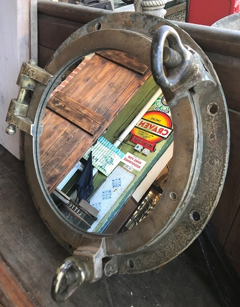 Original Two key Opening Porthole Mirror