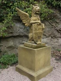 Winged Heraldic lion