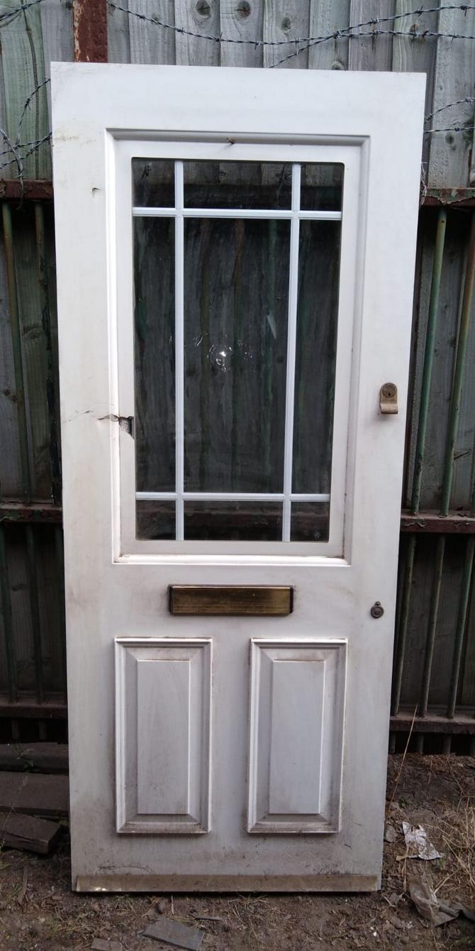 Reclaimed Half Glazed Front Door