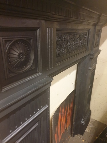 Reclaimed Decorative Original Cast Iron Surround