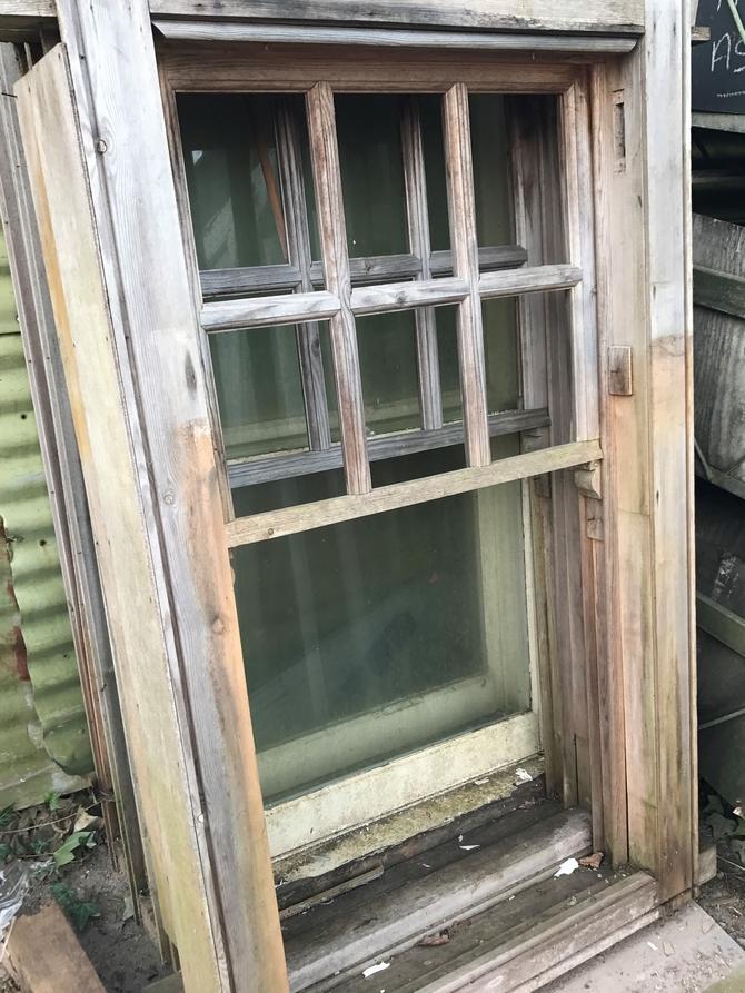 Reclaimed Sash Window Frame
