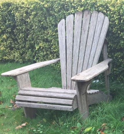Reclaimed Teak Adirondack Garden Lounger