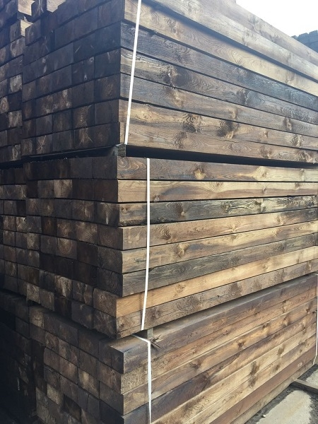 RECLAIMED SAWN RAILWAY SLEEPERS EXCLUSIVELY AVAILABLE ONLY FROM ACE