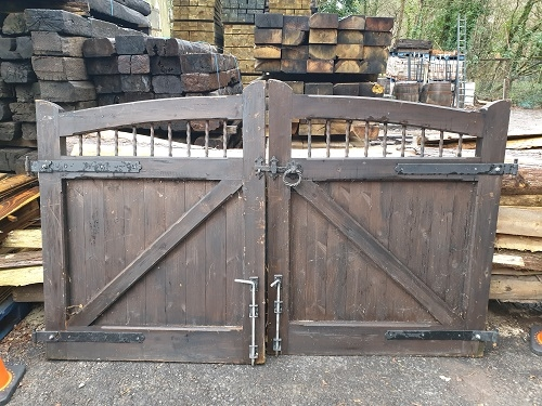 Pair of Wooden Driveway Gates