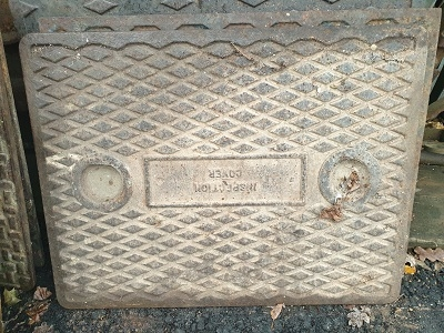 Salvaged Cast Iron Manhole/Inspection Cover 634 x 490
