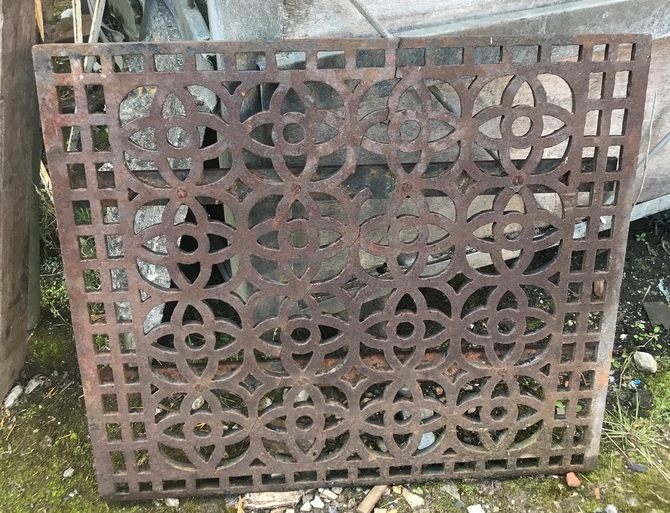 Ornate Cast Iron Grate SOLD