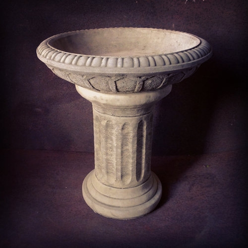 Fluted Birdbath SOLD
