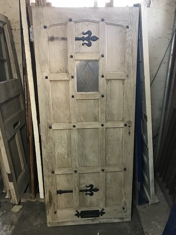 Reclaimed Solid Oak Stripped Door