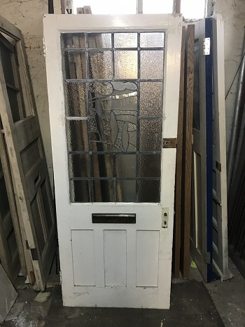 Reclaimed Feature Glass Painted Door