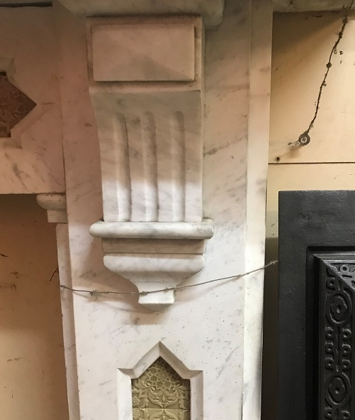 Antique Reclaimed Marble Chimney Piece