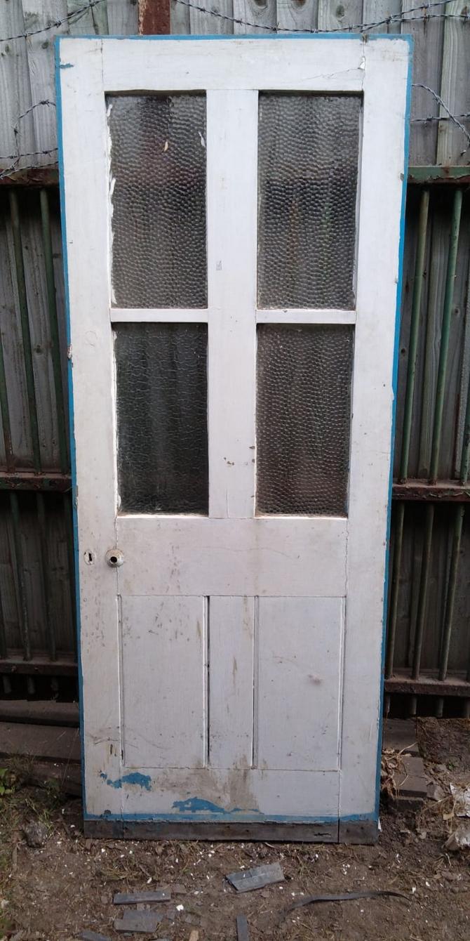 Reclaimed Frosted Half Glazed Door