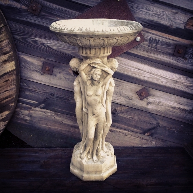Three Graces Birdbath