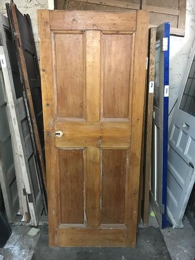 Reclaimed Stained 4 Panel Door