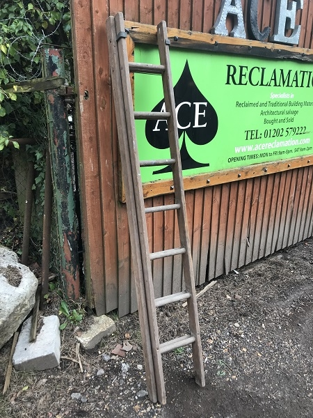 Antique Wooden Extendable Ladder