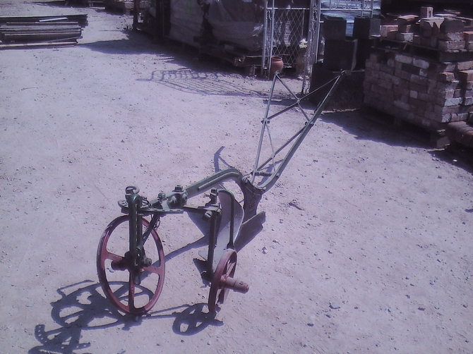 Original Horse Drawn Plough with two wheels