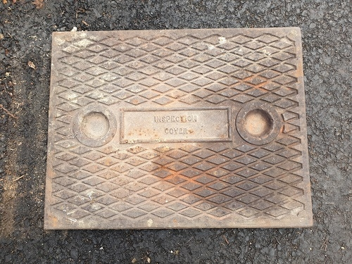 Salvaged Cast Iron Manhole/Inspection Cover 658 x 510mm