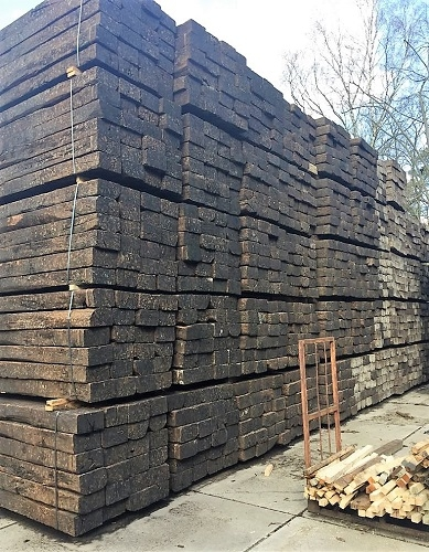 RECLAIMED OAK RAILWAY SLEEPERS  24 PACK SPECIAL
