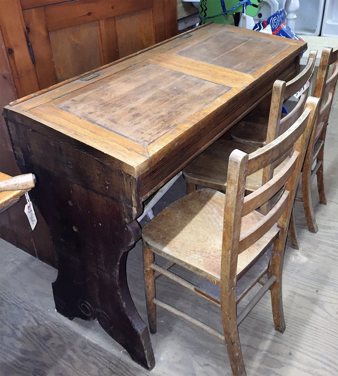 Reclaimed Antique Twin School Desk
