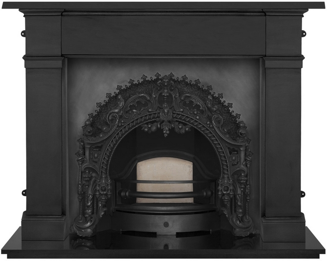 Rococo Cast Iron Fireplace Insert by Carron