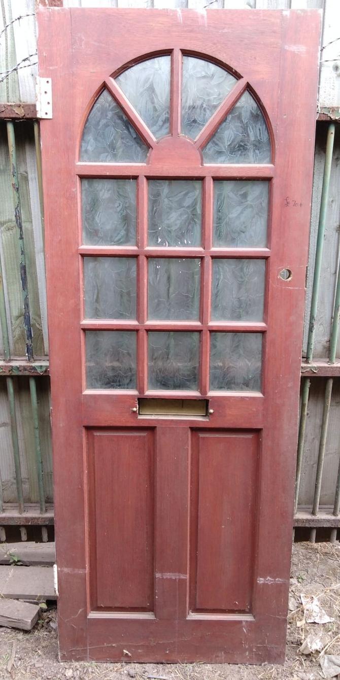 Reclaimed Half Glazed Front 13 Panel Front Door