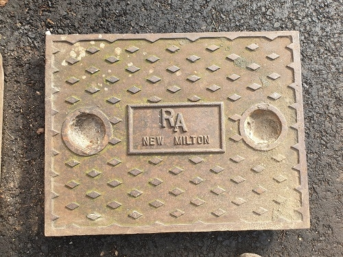 Salvaged Cast Iron Manhole/Inspection Cover 657 x 505mm