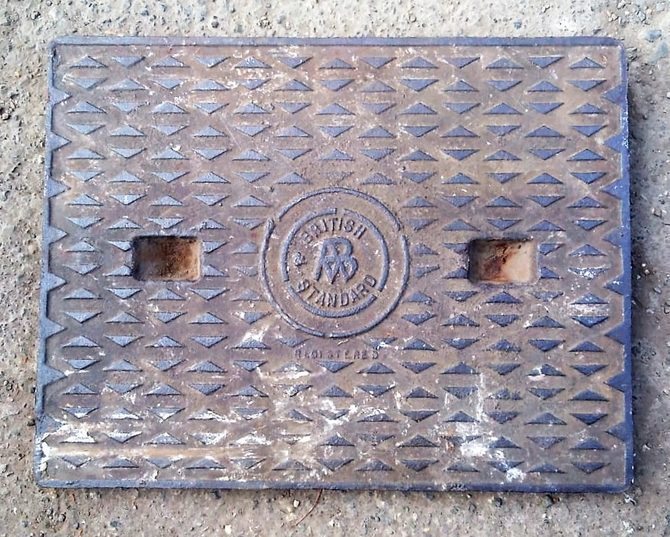 Salvaged Cast Iron Manhole/Inspection Cover 660 x 500