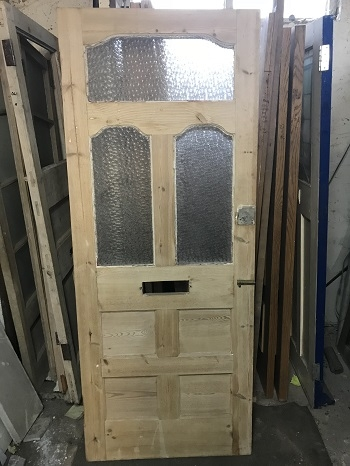 Reclaimed Glazed Stripped Door