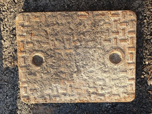Salvaged Cast Iron Manhole/Inspection Cover 640 x 492
