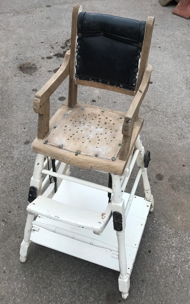Antique French Metamorphosis Childrens Chair/High Chair