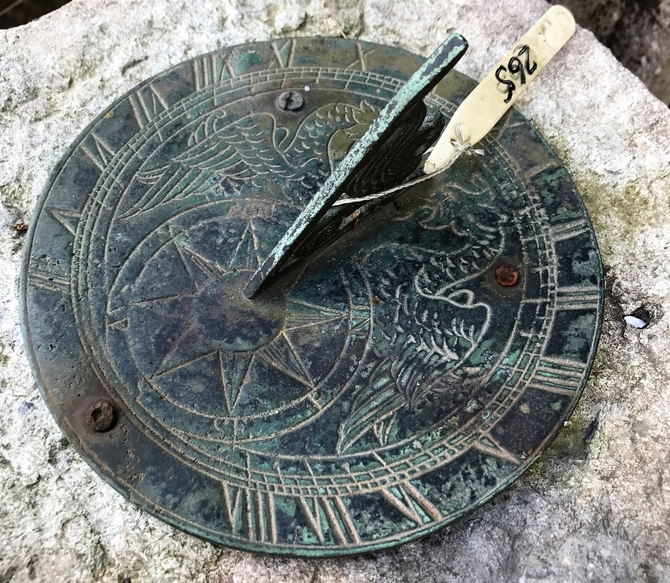 Reclaimed Stone Sun Dial