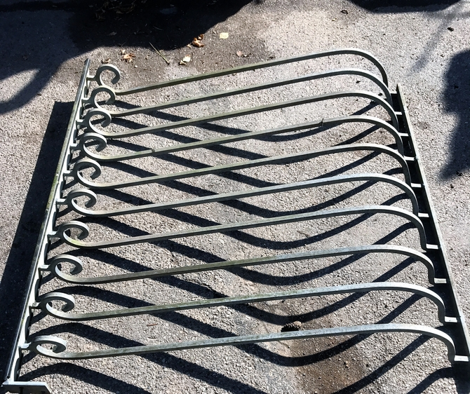 Salvaged Galvanised Balustrade Set of 4