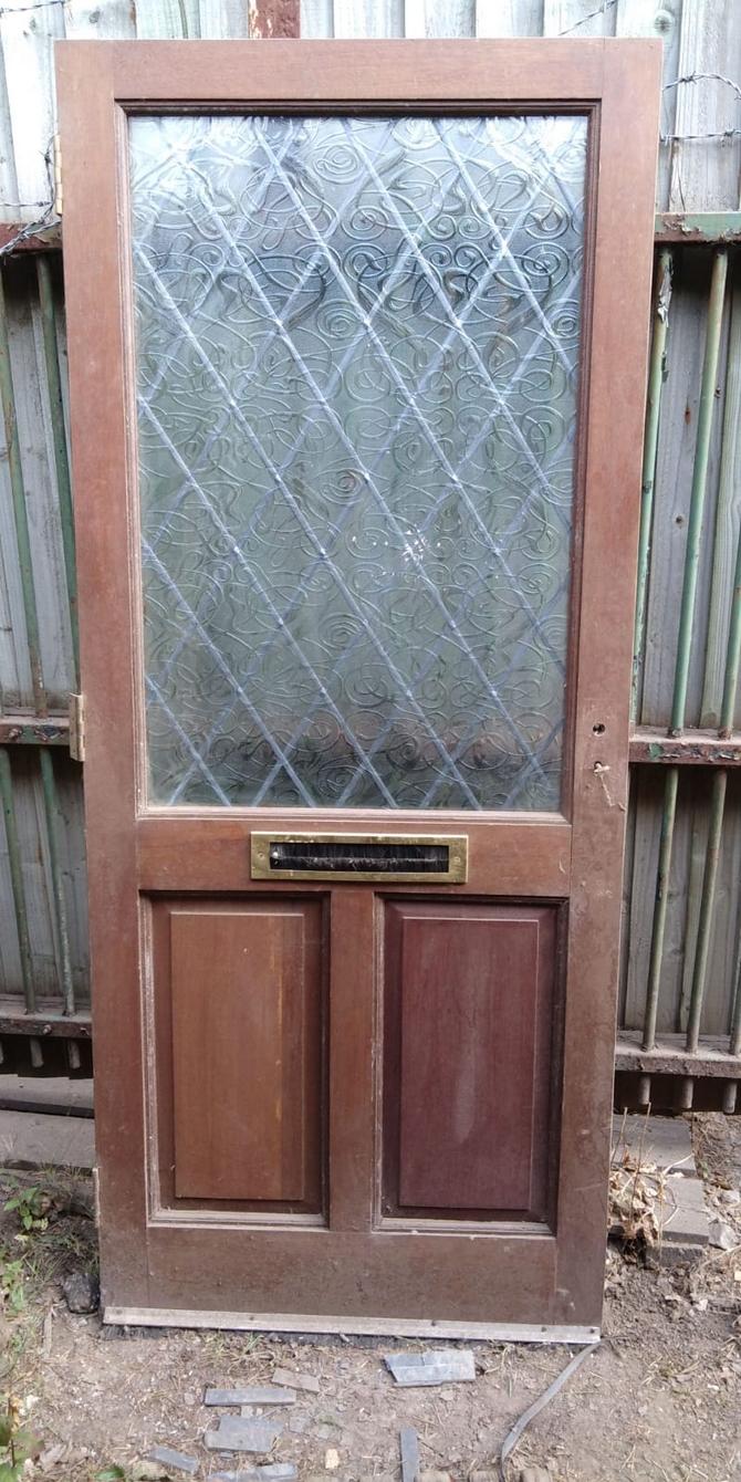 Reclaimed Half Glazed Front Door Ace Reclamation