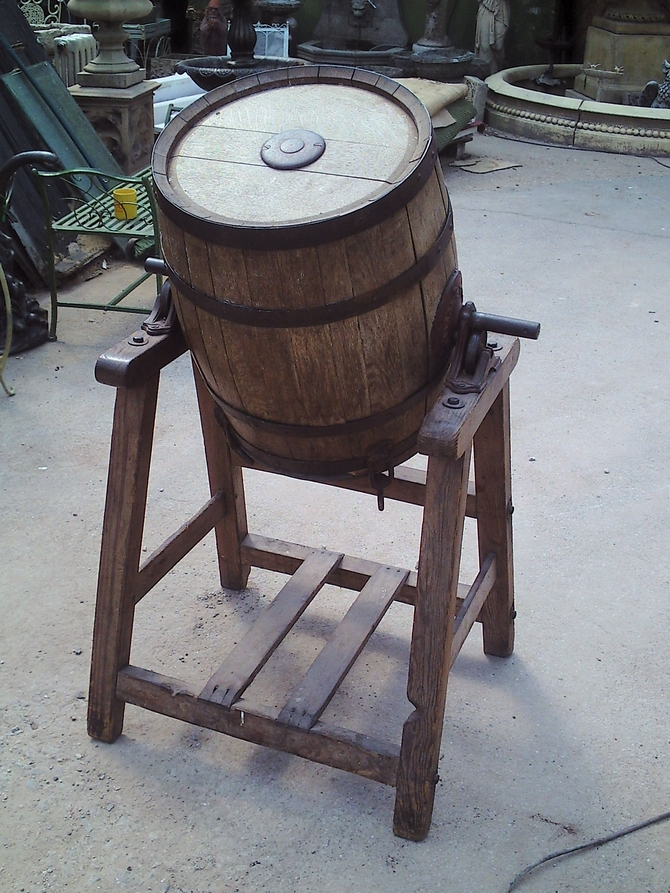 butter churn on a stand