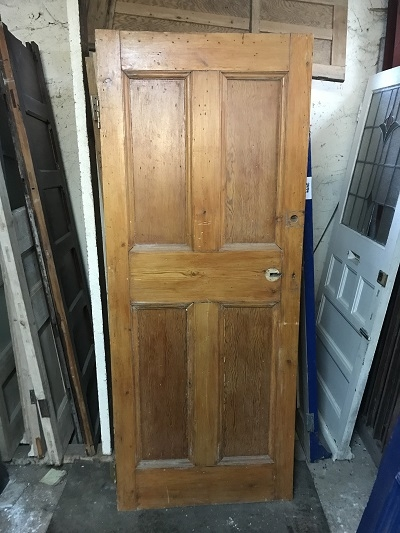 Reclaimed Stained 4 Panel Door
