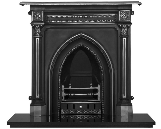 Gothic Cast Iron Combination Fireplace
