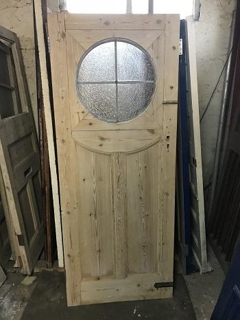 Reclaimed Stripped Round Window Door