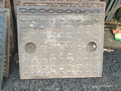 Salvaged Cast Iron Manhole/Inspection Cover 645 x 490