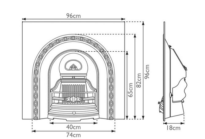 The Ce Lux is a Victorian style cast iron fireplace insert by Carron