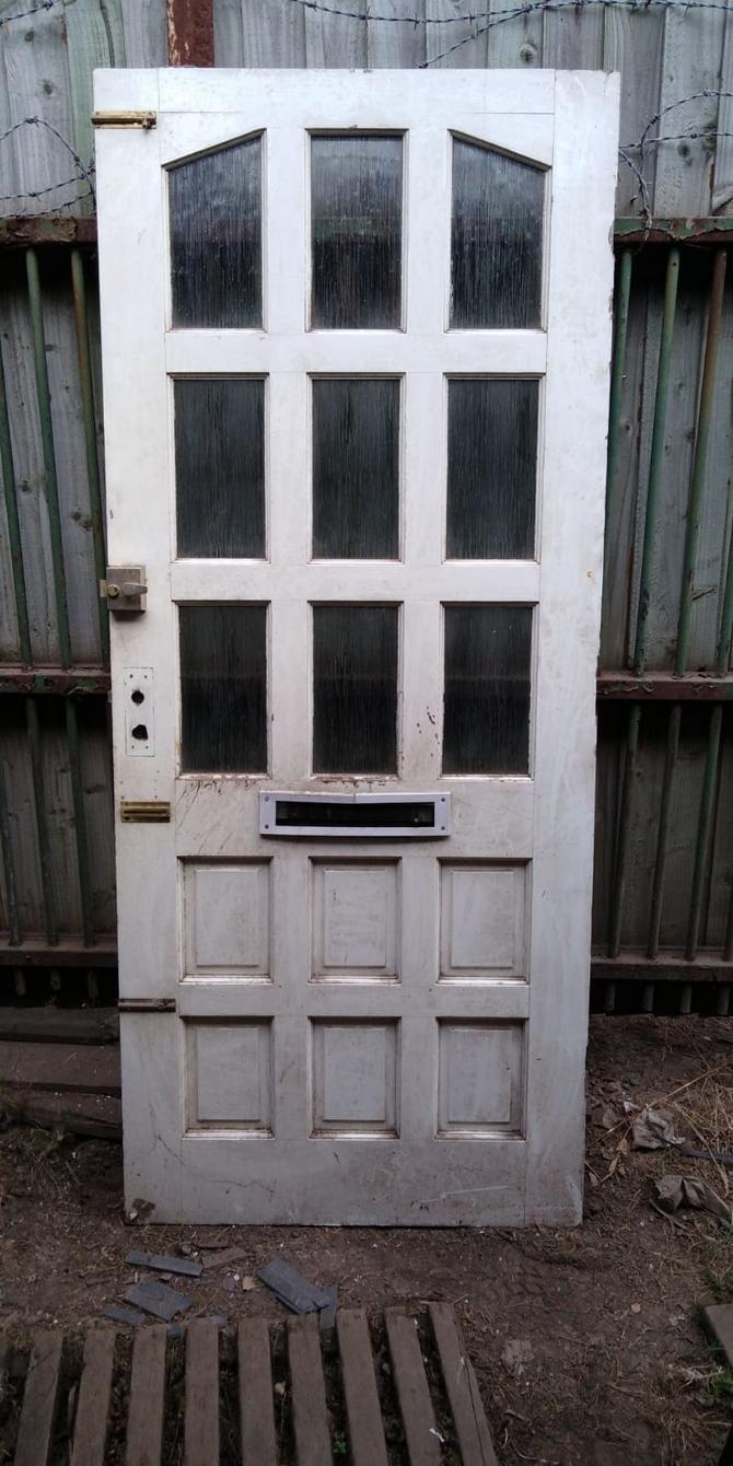 Reclaimed 9 Panel Half Glazed Front Door