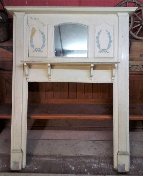 Original Arts & Crafts Wooden Fire Surround