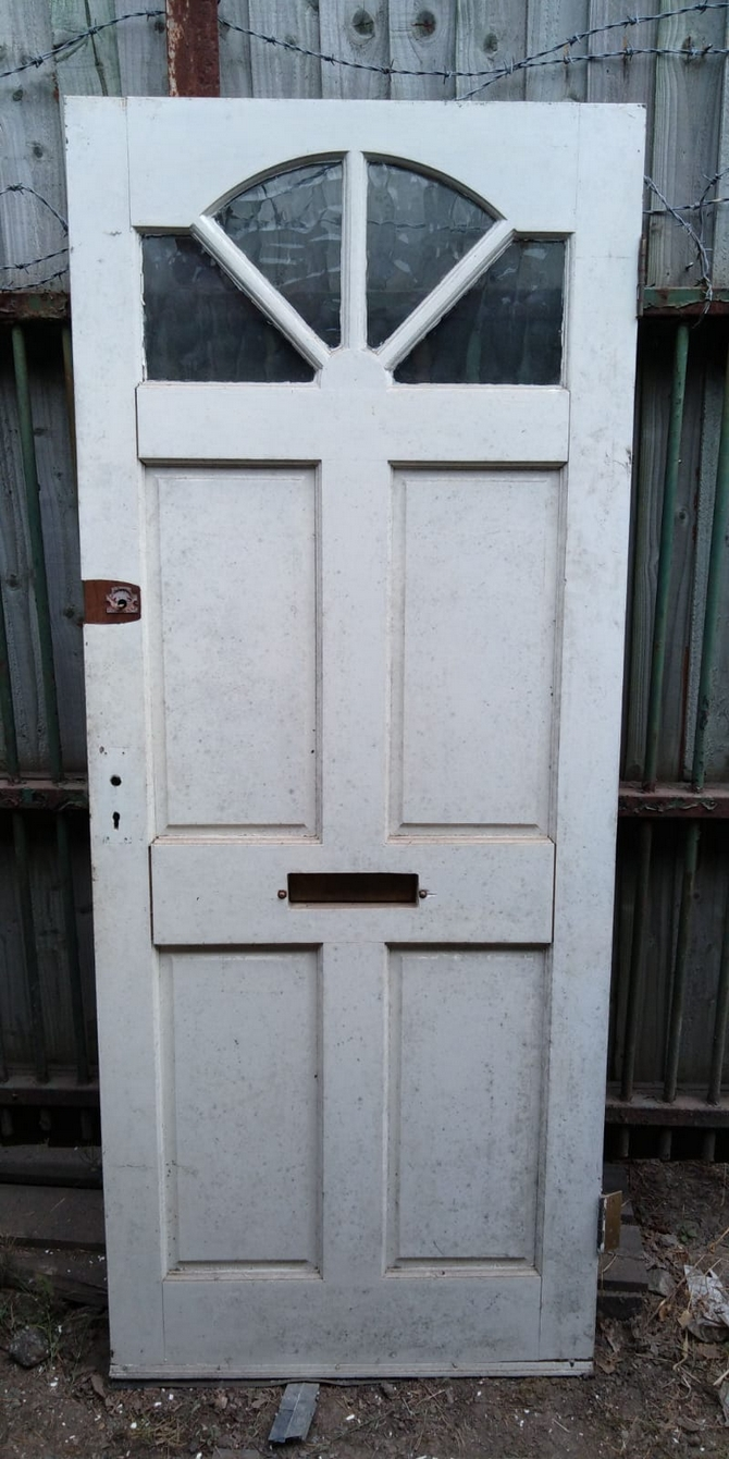 Reclaimed Part Glazed Front Door